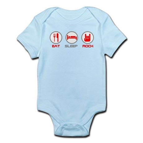 Eat Sleep Rock Infant Bodysuit