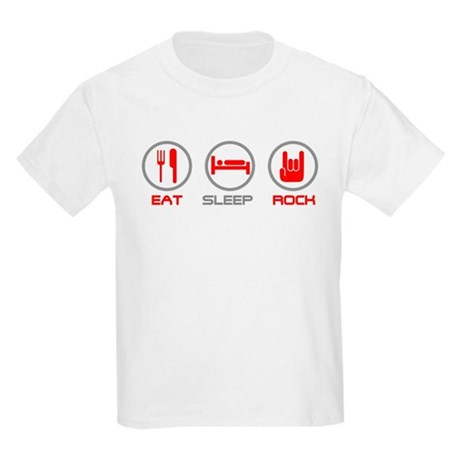 Eat Sleep Rock Kids Light T-Shirt