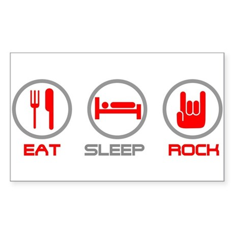 Eat Sleep Rock Rectangle Sticker