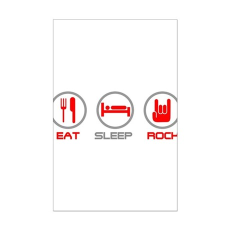 Eat Sleep Rock Mini Poster Print