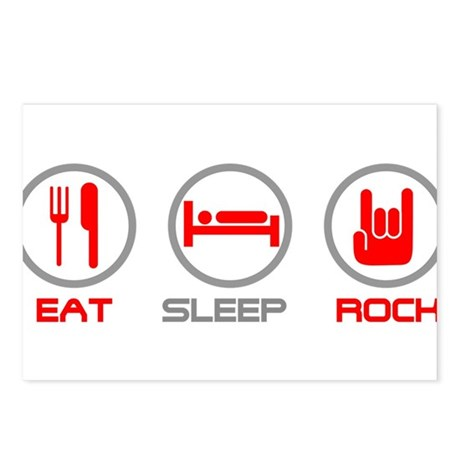 Eat Sleep Rock Postcards (Package of 8)