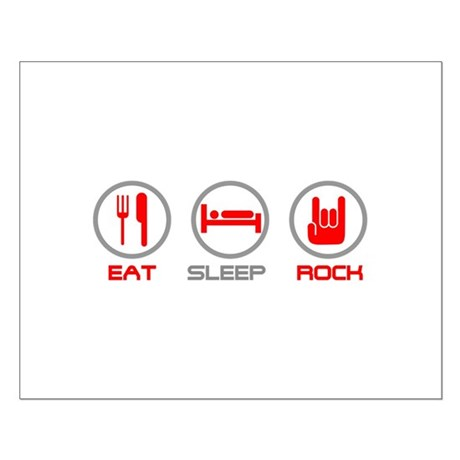 Eat Sleep Rock Small Poster