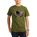 Metis Wildlife Art Organic Men's T-Shirt (dark)