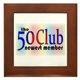 The 50 Club Framed Tile