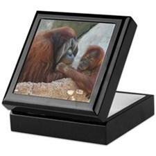 Orangutan Mom and Child Keepsake Box