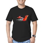 Flaming Rock Men's Fitted T-Shirt (dark)