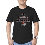 #1 Curling Brother Men's Fitted T-Shirt (dark)