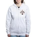 #1 Curling Grandpa Women's Zip Hoodie