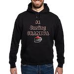 #1 Curling Grandpa Hoodie (dark)