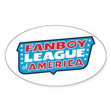 Fanboy League Oval Decal