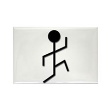 Running Man Rectangle Magnet (10 pack)