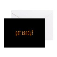 got candy? black Greeting Cards (Pk of 10)