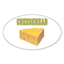 Cheesehead Oval Decal