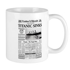 "London Herald ""Titanic SInks Mug"