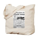 "London Herald ""Titanic SInks Tote Bag"