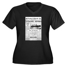 "London Herald ""Titanic SInks Women's Plus Siz"