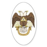 Scottish Rite 32 Oval  Aufkleber