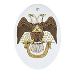 Scottish Rite Oval Ornament