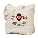 Peace Love Tri Tote Bag