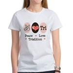 Peace Love Tri Women's T-Shirt