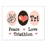Peace Love Tri Small Poster