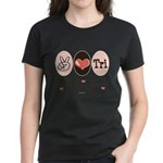 Peace Love Tri Women's Dark T-Shirt