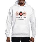 Peace Love Tri Hooded Sweatshirt