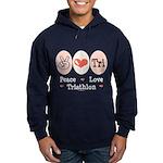 Peace Love Tri Hoodie (dark)