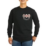 Peace Love Tri Long Sleeve Dark T-Shirt