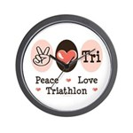 Peace Love Tri Wall Clock