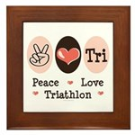 Peace Love Tri Framed Tile