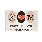 Peace Love Tri Rectangle Magnet (100 pack)