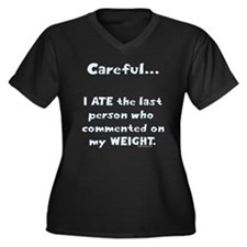Weight comments Women's Plus Size V-Neck Dark T-Sh