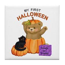 First Halloween Teddy Tile Coaster