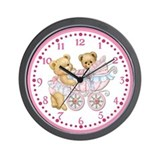 Baby Bear Girl Wall Clock