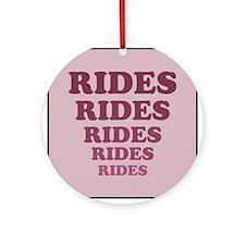 Rides Ornament (Round)