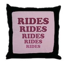 Rides Throw Pillow