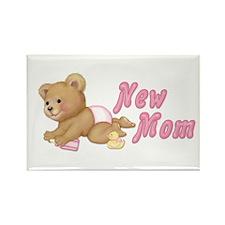 Diaper Teddy Girl - New Mom Rectangle Magnet (10 p