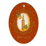 Sevilla / Spain (1) Oval Ornament