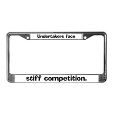 Undertakers face stiff compet License Plate Frame