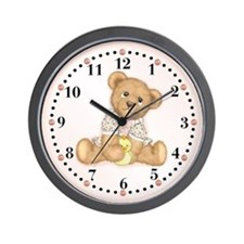 Teddy Toddler Wall Clock