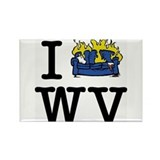 Cute Wvu Rectangle Magnet
