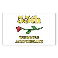 55th Rose Rectangle Decal