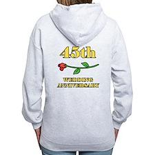 45th Rose Zip Hoodie