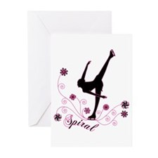 Ice Skating Spiral Greeting Cards (Pk of 10)