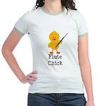 Flute Chick Jr. Ringer T-Shirt