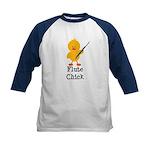 Flute Chick Kids Baseball Jersey