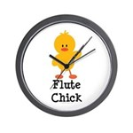 Flute Chick Wall Clock