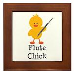 Flute Chick Framed Tile