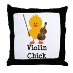 Violin Chick Throw Pillow